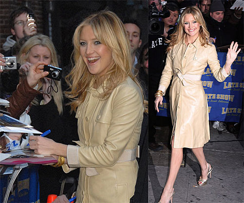 Kate Hudson Goes For (Fool's) Gold on Letterman