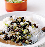 Fast & Easy Dinner: Black Beans and Rice