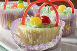 Easter: Mini Cheesecake Baskets