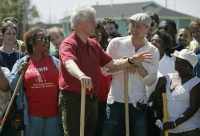 Brad Pitt & Bill Clinton Unite to Rebuild the Lower 9th Ward.