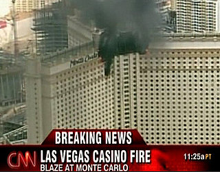 Monte Carlo Hotel on Fire