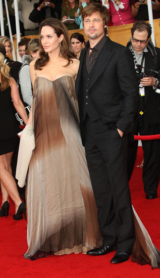 Angelina Jolie and Brad Pitt Strolled the Red Carpet at the SAG Awards