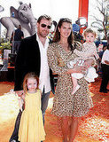 Brooke Shields and her husband family attended the <b>Dr. Seuss Horton Hears a Who</b> movie premiere.
