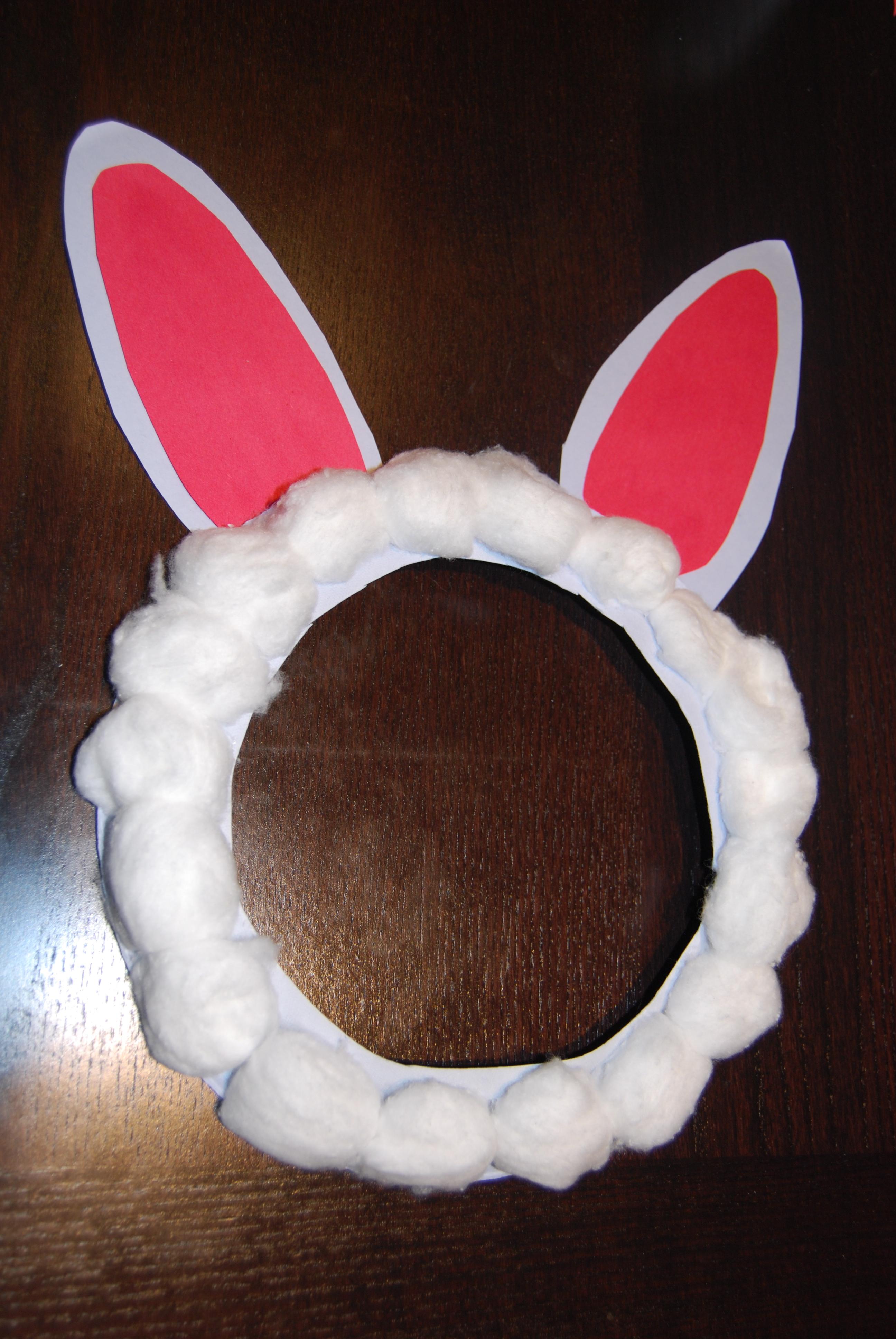 Voila! Bunny ears are ready.