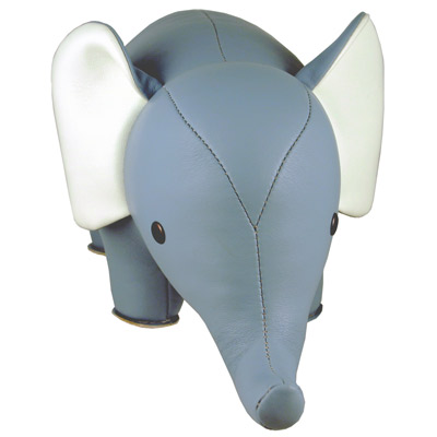 Blue Elephant Bookend
