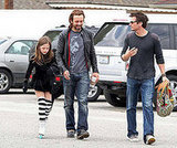 Lily Sheen and her daddies – Michael Sheen chats it up with her stepdad Len Wiseman.