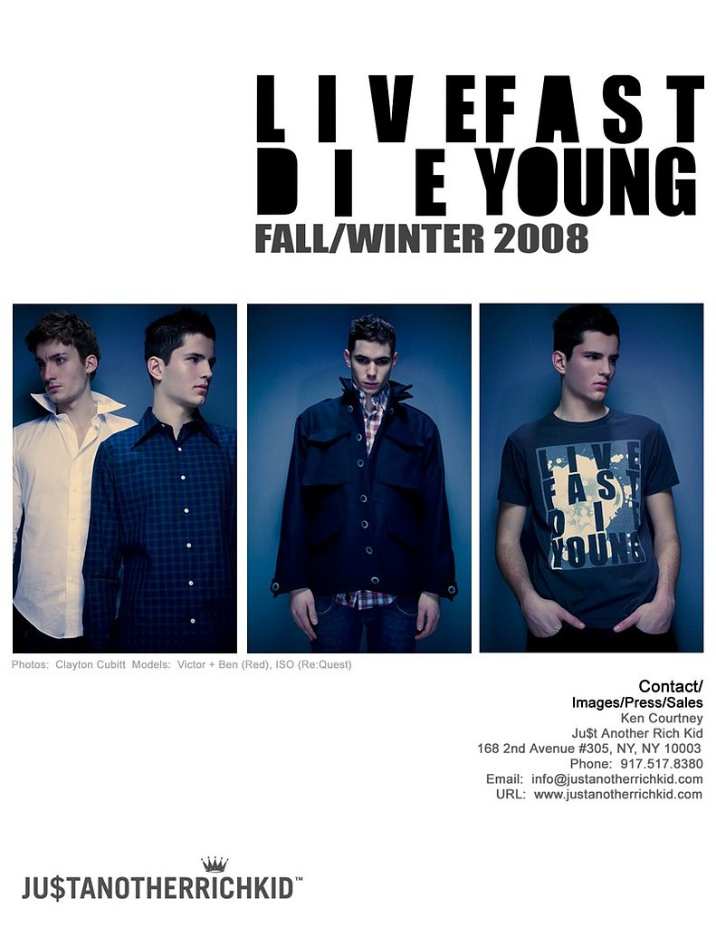 Just Another Rich Kid Fall 08 Look Book