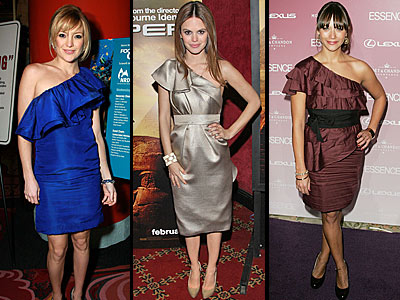 ONE-SHOULDERED RUFFLED DRESSES -- Love It Or Leave It?