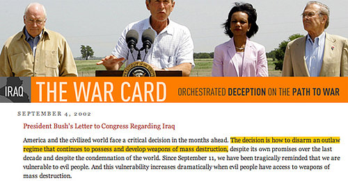 Database of Statements Leading to Iraq War