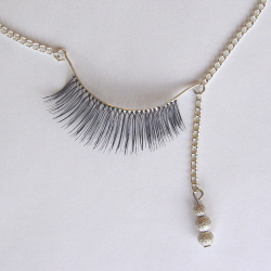Eyelash necklaces by Stephanie Simek