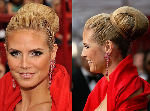 Heidi Klum at the Oscars: hair and makeup