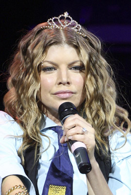 Fergie in tiara in Atlantic City