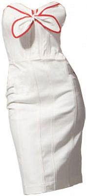 Betsey Johnson Washed Denim Dress in White