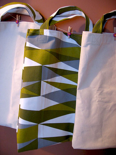 How To: Make Fabric Shopping Bags