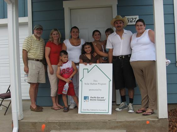 The Torres Family at Their New Home