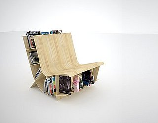 Cool Idea: A Bookshelf and a Bench