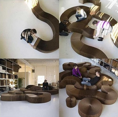 Weird Furniture: Kraft Paper Softseating