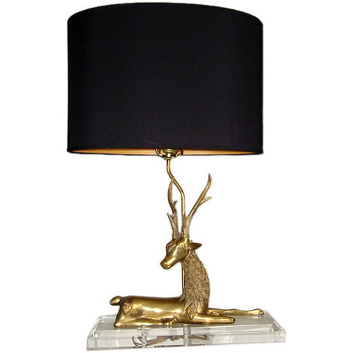 Love  It or Hate It? Vintage Brass Deer Lamp