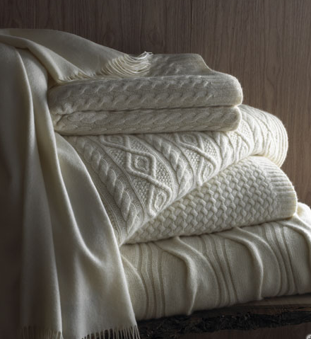 Cuddle With a Cashmere Throw and Watch the Fireworks!