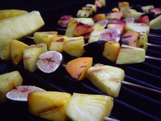 Grilled Fruit Kebabs