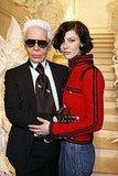 Karl Lagerfeld and Anna Mouglalis at Chanel