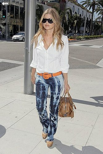How Would YOU Wear It? Fergie in Tie-Dye Jeans