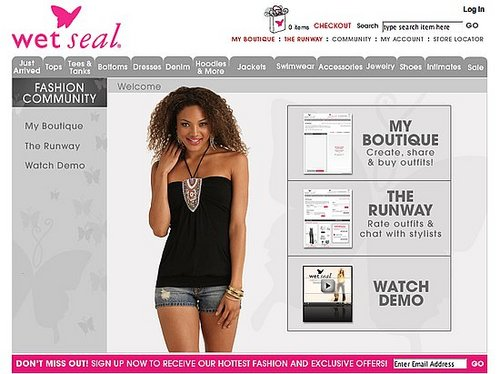 Fab Site: Wet Seal Launches Online Fashion Community