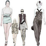 Nylon fashion illustrations