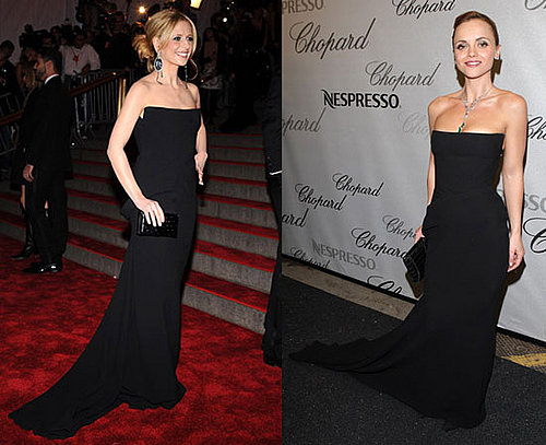 Who Wore It Better? Bottega Veneta Strapless Black Gown