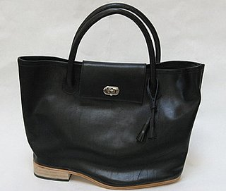 Freaky or Fabulous? A'N'D Large Flat Heel Turn Lock Tote Bag