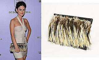 Found! Rachel Bilson's Feathered Clutch