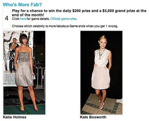 Play Who's More Fab and Win up to $5,000!