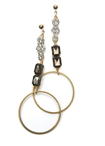 Beth Lauren Crystal Ring Earrings