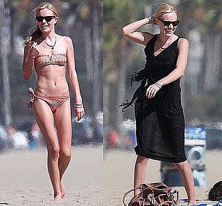 Kate Bosworth in Diane von Furstenberg Bandeau Bikini on the Beach