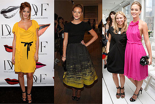 Leighton Meester Looks at New York Fashion Week