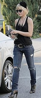 Mena Suvari in Holey Jeans in LA