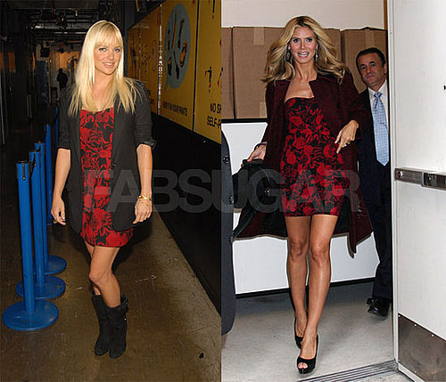Actress Anna Farris and Heidi Klum Both Wearing YAYA Aflalo's Floral Dress