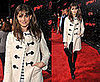 Amanda Peet Attends &quot;The Spirit&quot; Los Angeles Premiere in an Ivory Toggle Coat