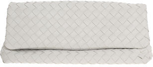 The Bag To Have: Bottega Veneta White Flap Clutch