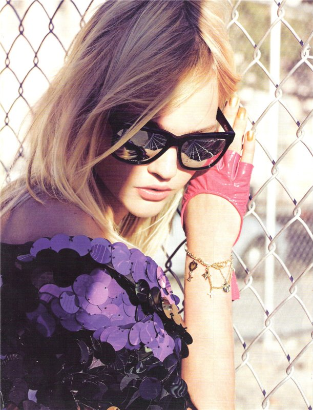 Girls on Film: Sasha Pivovarova, Vogue UK, January