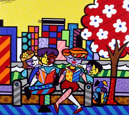 I'm addicted to Romero Britto's art.