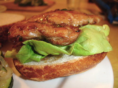 Soy-Ginger Chicken Sandwich