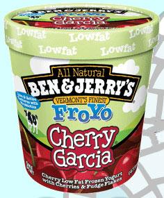 Ben & Jerry's Cherry Garcia Frozen Yogurt