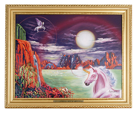 Unicorn Oil Painting
