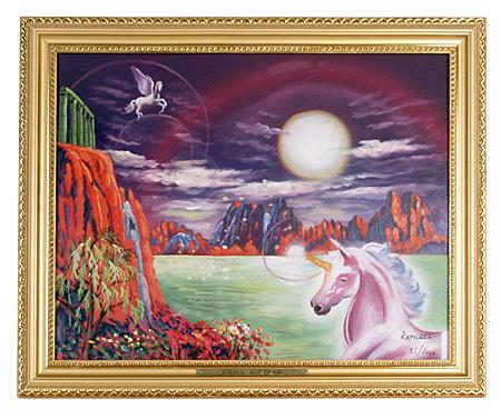 Unicorn Oil Painting