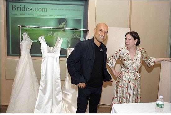 Famous wedding gown designer Angel Sanchez and Editor-in-chief of Brides.com Michelle Preli!