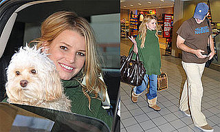 Photos of Jessica Simpson and Tony Romo at LAX 2009-01-05 06:45:00