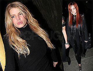 Photos of Jessica Simpson and Ashlee Simpson, Who Changed Her Hair Back to Red, Out in LA