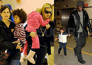 Photos of Heidi Klum, Seal, Johan Samuel, Leni Klum, Henry Samuel at LAX