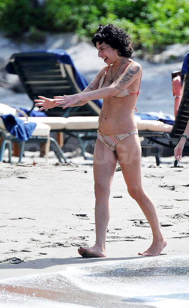 Amy Winehouse Hits The Beach